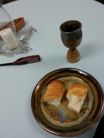 Communion Bread at Potluck Church